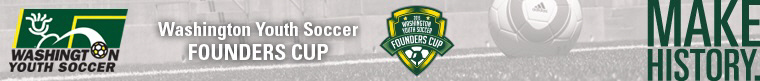 2015 Washington Youth Soccer Founders Cup banner